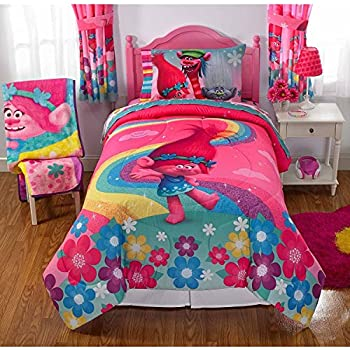 Amazon Com Trolls Girls Complete Bedding Comforter Set