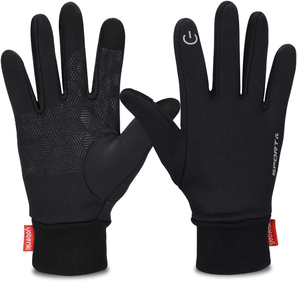 Yobenki Winter Gloves Cycling Gloves/Touch Screen Gloves/Windproof Warm Gloves for Cycling Riding Running Skiing and Winter Outdoor Activities Men /& Women