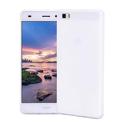Funda HuaWei P8 Lite, Carcasa HuaWei P8 Lite Silicona Gel, OUJD Mate Case Ultra Delgado TPU Goma Flexible Cover para HuaWei P8 Lite - Blanco