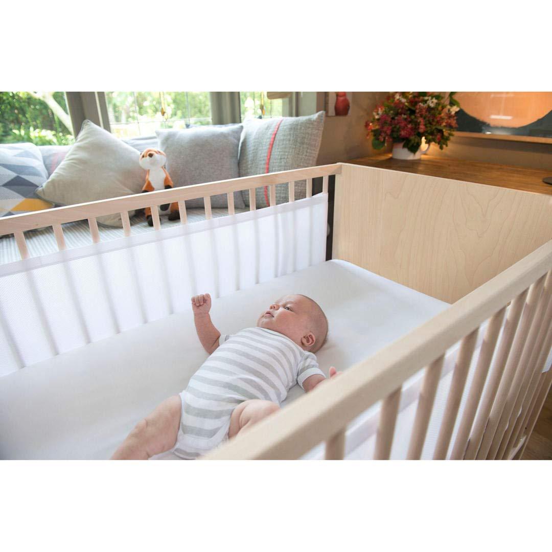Airwrap - Protectores para cuna, doble cara, color blanco ...