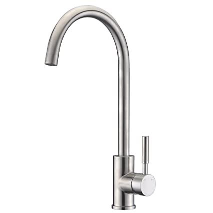Sucasa Simple Basic Kitchen Faucet Brushed Sus304 Stainless Steel