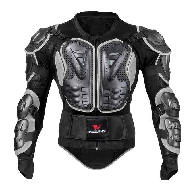 ALIKEEY Moto Chaleco De Cuerpo Completo Armor Jacket Motocross Racing Pecho Protector Abrigo Blusa Slim La Personalidad Moda Blusa Músculo Camisa de ...