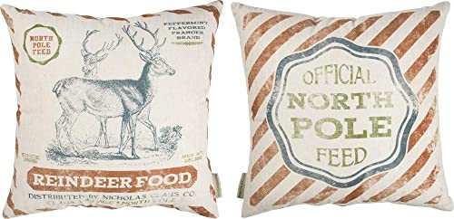 Pillow – North Pole Feed Reindeer Food 16 Inch Square Holiday Throw Pillow