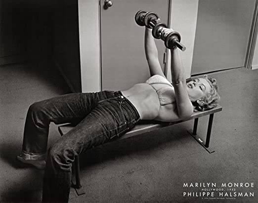 MARILYN MONROE ART PRINT Marilyn Monroe with Weights Philippe Halsman