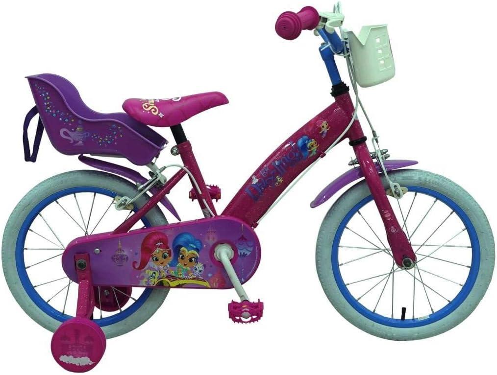 Shimmer & Shine Bicicleta Niña 16 Pulgadas Frenos al Manillar ...