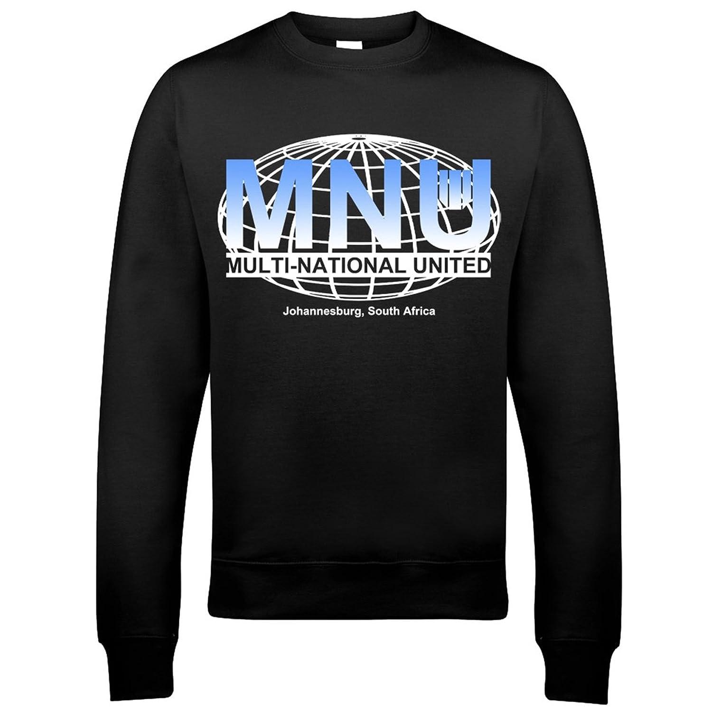 9184 Multi-National United MNU Mens Sweatshirt District 9 Zombie Mutant Alien Invasion Zone