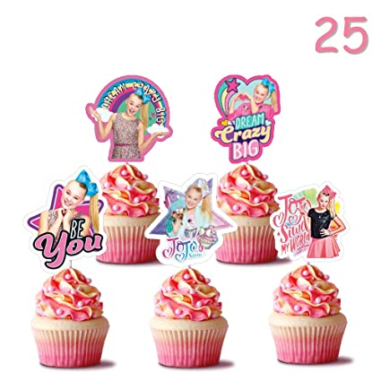 Juego de 24 adornos para cupcakes de Jojo, para fiestas de ...