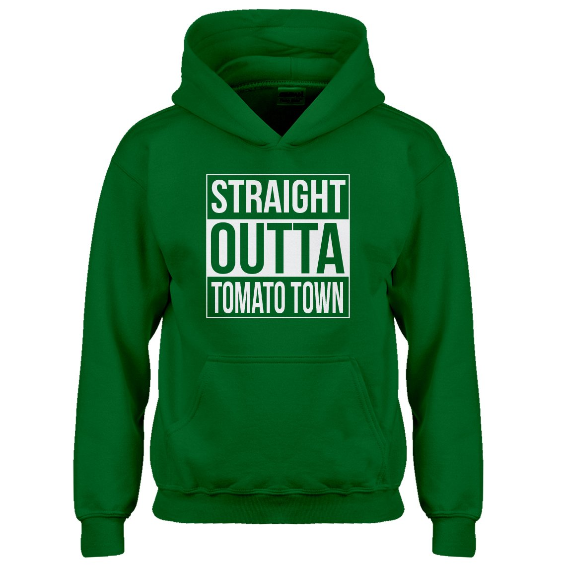 Indica Plateau Youth Straight Outta Tomato Town Kids Hoodie 3339-Z