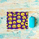 HGOD DESIGNS Emoji Gaming Mouse Pad,Funny Chat Emoji Pattern Art Print Mousepad Rectangle Non-Slip Rubber Mouse Pads(7.9'X9.5')