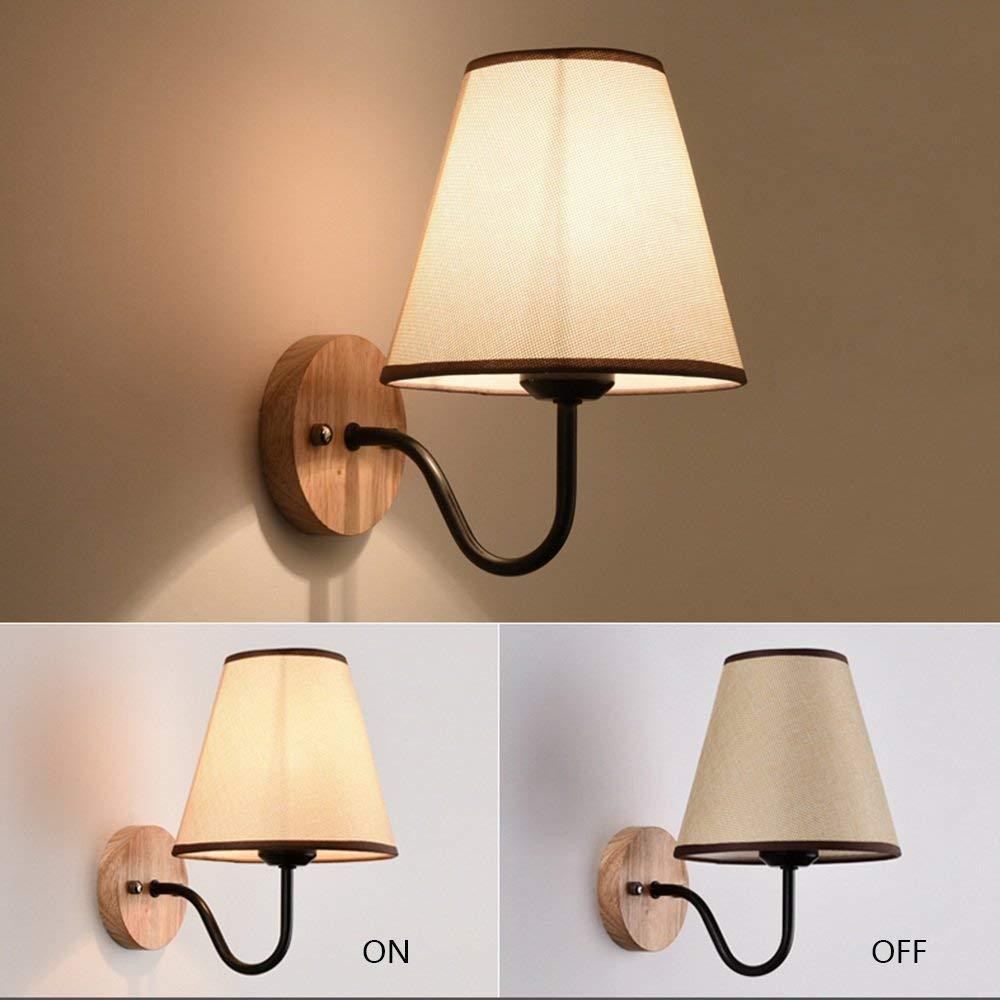 4 FJTXC Exquisite Wirtschaft Energie Lampe Verstellbare Wand - Legierung Tuch Dauerlicht Schatten einfach kreative Moderne Wohnzimmer Schlafzimmer Balkon Nachtlicht Dauerlicht Gang (Nicht Quelle Lich