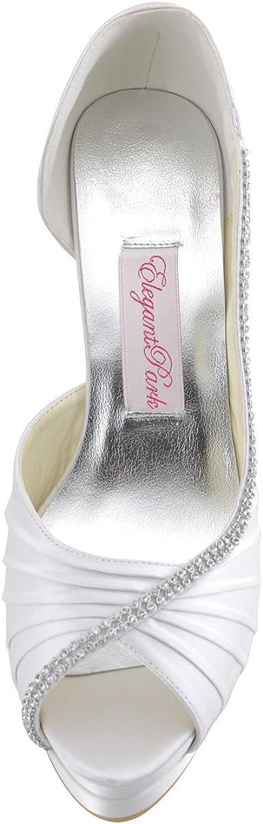 Elegantpark EP11064-IPF Rosa Accessorio Diamante Catena Open Toe Piattaforma Scarpe a Tacco Alto da Sposa Ballo