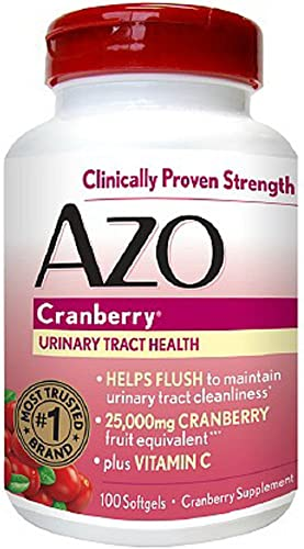 AZO Cranberry, Maximum Strength, Softgels 100 ea Pack of 2