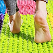 Foot Massage Mat Health Care Acupuncture Shiatsu Circulation Reflexology 2 PCS(BLUE)