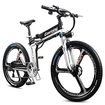 """BNMZX Bicicleta eléctrica Plegable, Bicicleta de montaña - 26""""- 90 km de duración"""