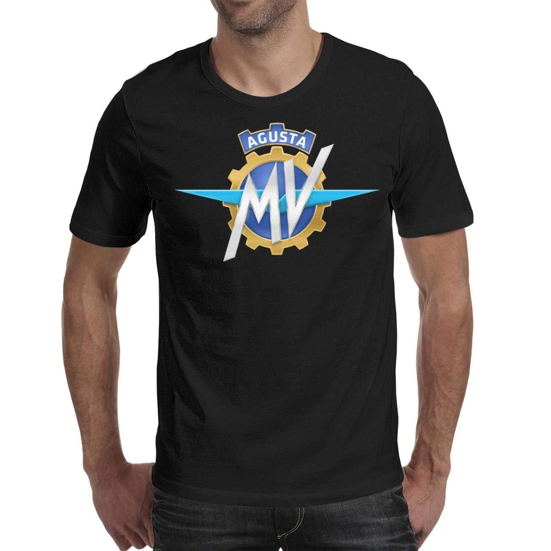 HOIDIA Mens Guys MV-Agusta-Motorcycle-Logo Short Sleeved Cotton T Shirts
