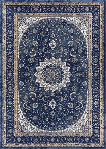 Well Woven Luxbury Mahal Traditional Vintage Medallion Oriental Blue Area Rug 9 3 x 12 3