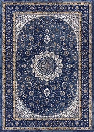 Well Woven LX-56-4 Luxbury Mahal Traditional Vintage Medallion Oriental Blue Area Rug 3