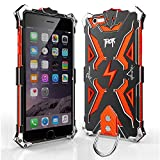 Iphone 6 6s plus Case, bpowe Hollow Design Full Signal Thor Case, Aviation Aluminum Anti-scratch Strong Protection Metal Hard Rugged Case for Iphone 6/6s plus 5.5inch (black/orange)