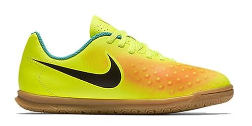 Nike Jr Magistax Ola II IC, Botas de Fútbol para Niños, Amarillo (Volt/Black-Total Orange-Clear Jade), 35 EU