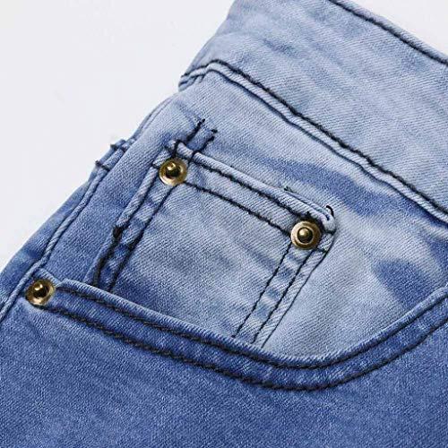 Distrutti Jeans Uomo Stile R Blau Slim Pantaloni Skinny Semplice Fit Stretch zqqTZU