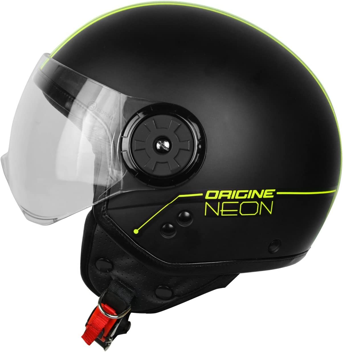 XS Origine helmets 201585010100102/Neon Street Casque Demi Jet Noir