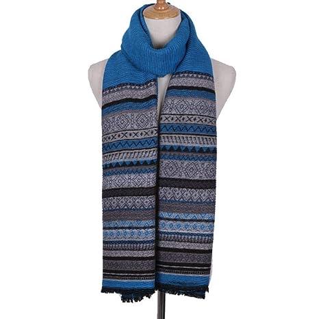 rebajas outlet elegante y elegante variedad de diseños y colores YsTmS Striped Scarf Stitching Hit Color Bufanda para Hombres ...
