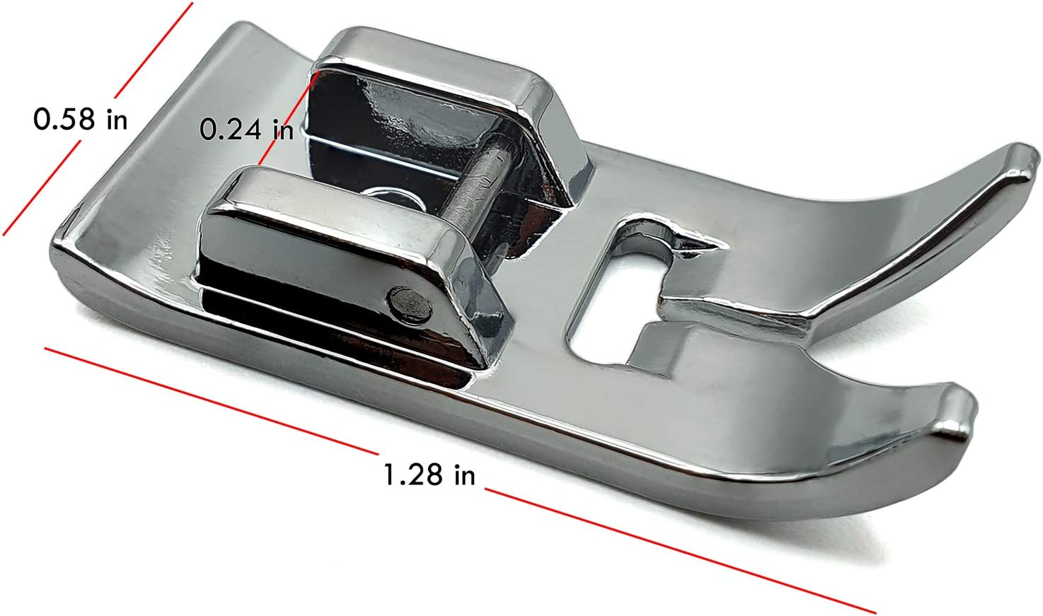 Addicted DEPO 2PCS Border Guide Sewing Machine Presser Foot for All Low Shank Snap-On 15 Class Machines