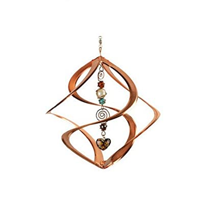 Red Carpet Studios Military Spiral Cosmix Wind Spinner with Glass Marbles : Garden & Outdoor
