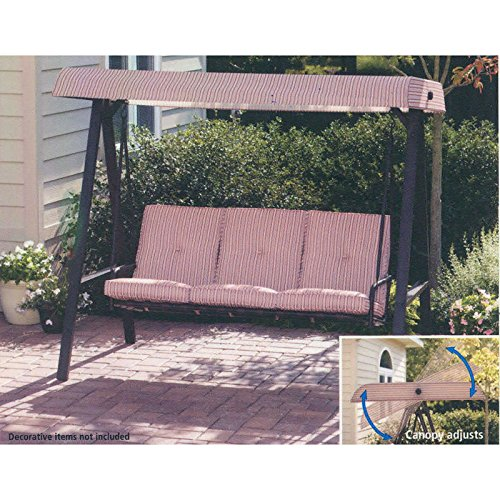 Garden Winds Replacement Canopy For Walmart 3 Person Striped Swing Riplock 350 690006176979 Ebay