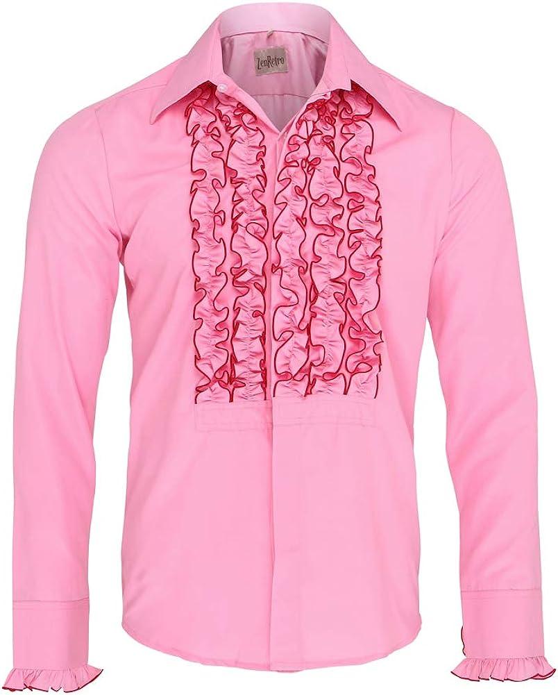 Zen Retro Mens Ruffle Ruche Frill Dinner Tuxedo Shirt