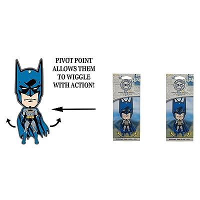 Superman Batman Wiggler 1 Pack air freshener Vanilla x 2 Packs: Automotive