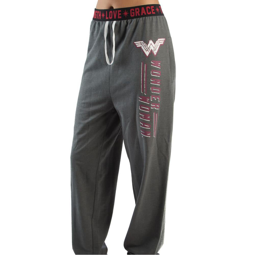 Wonder Woman Grey Jogger Sweatpants Gray)