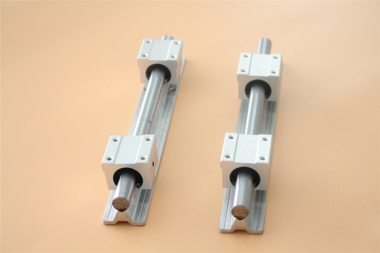 4pc SBR16 BLOCK 2X SBR16 300mm  bracket Linear RAIL aluminum cylinder support