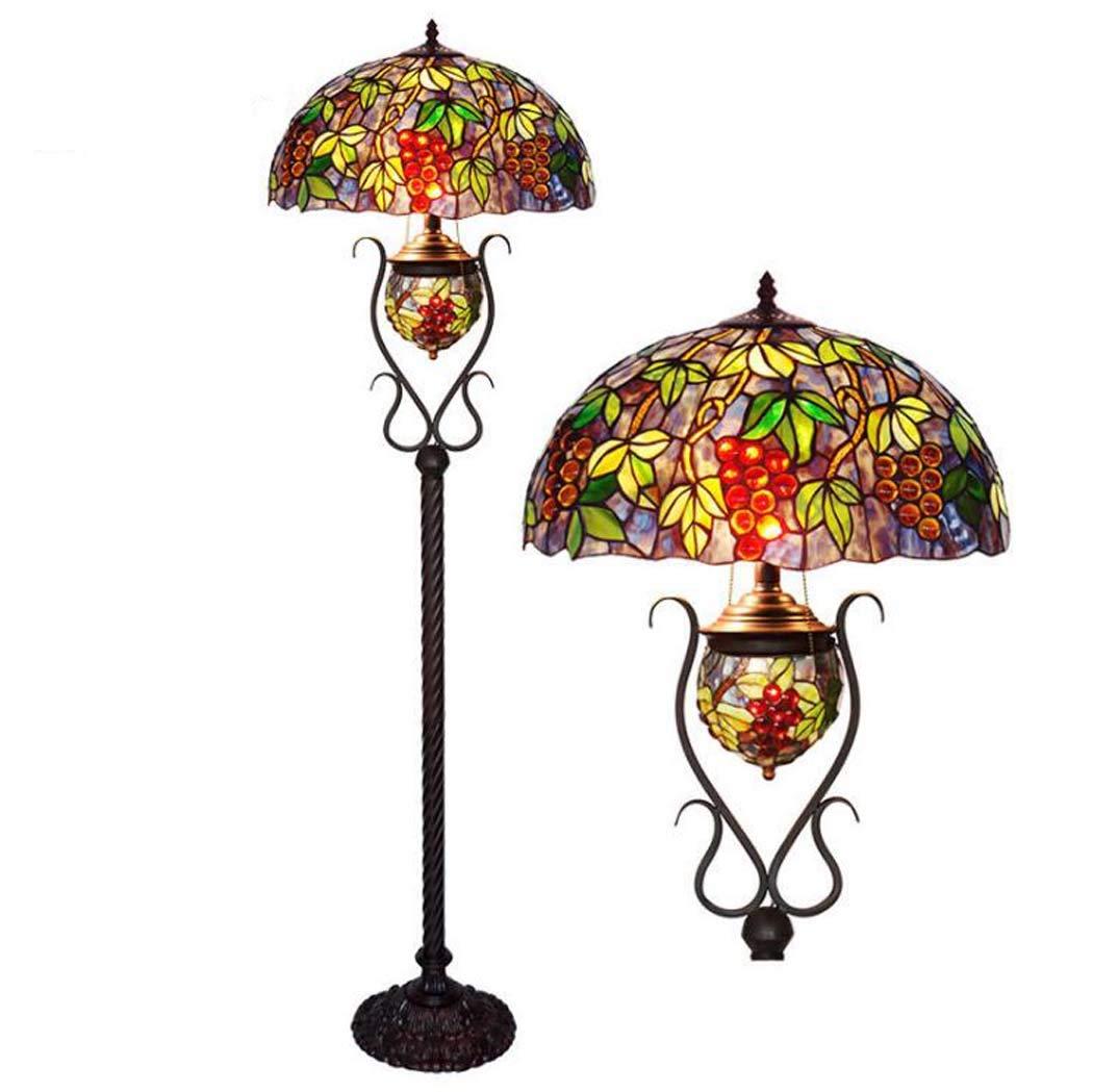 GAOLIQIN Lámpara de pie del Estilo de Tiffany, lámpara de ...
