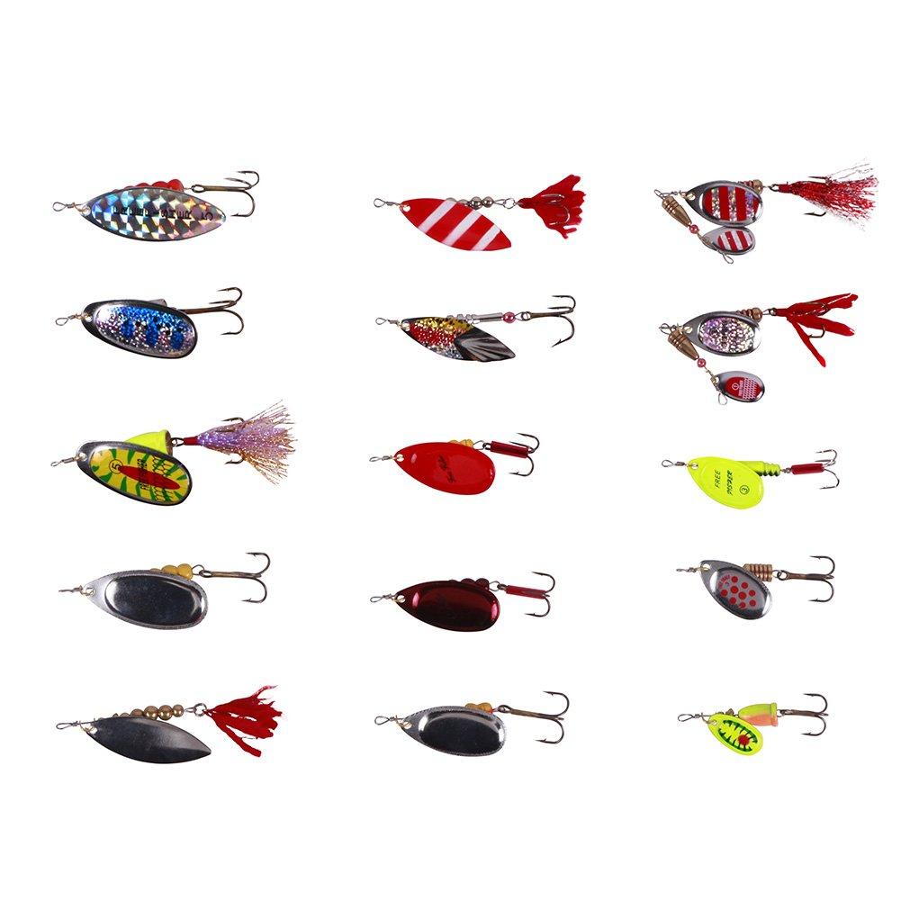 Free fisher Lot de 29leurres durs avec Lustrino et hameçons pour pêche mixte BT0015