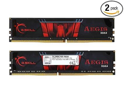 G Skill Aegis 16GB 2 x 8GB 288-Pin SDRAM DDR4 2400 (PC4 19200) Intel  Z170/X99 Platform Desktop Memory F4-2400C15D-16GIS