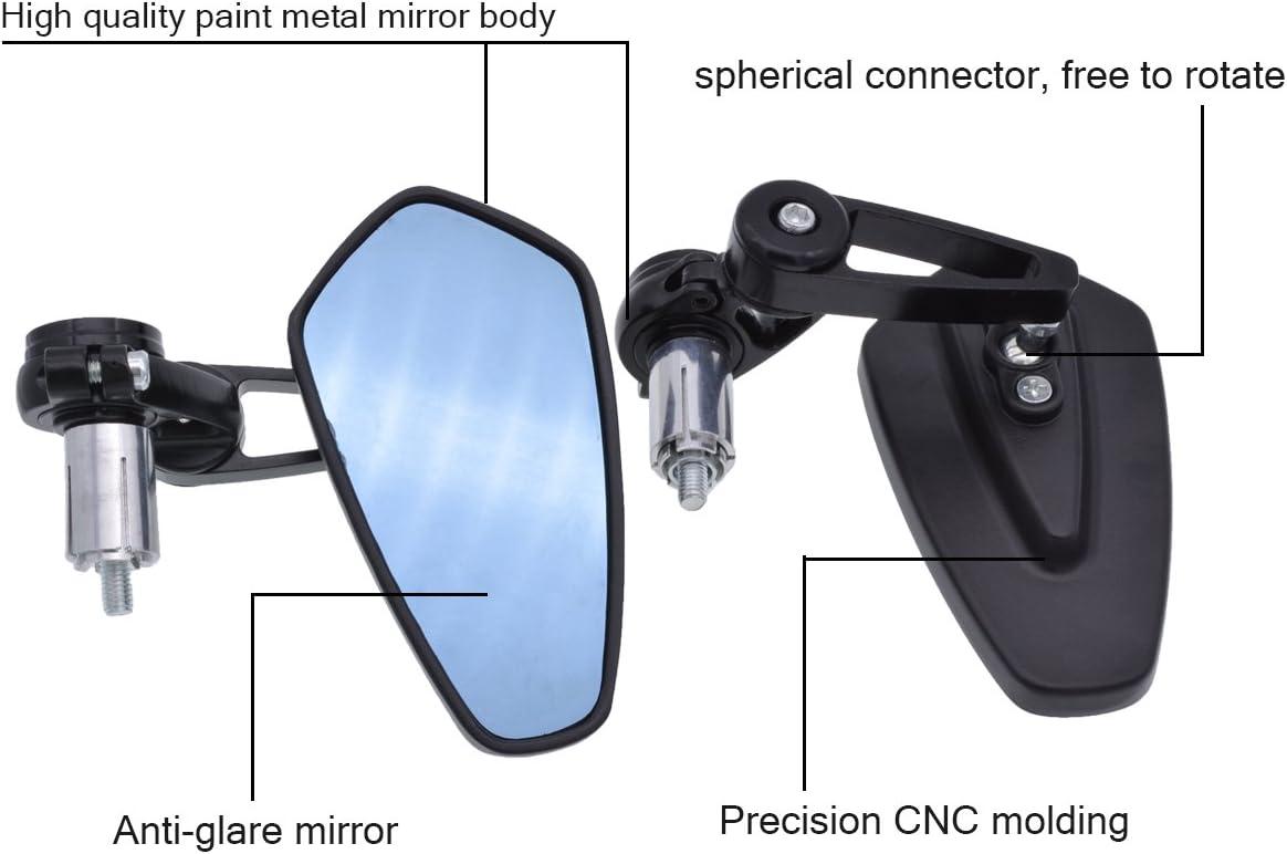 360° Rotate Universal Handlebar Rearview Mirror For MTB Bike Bicycle cby hgf