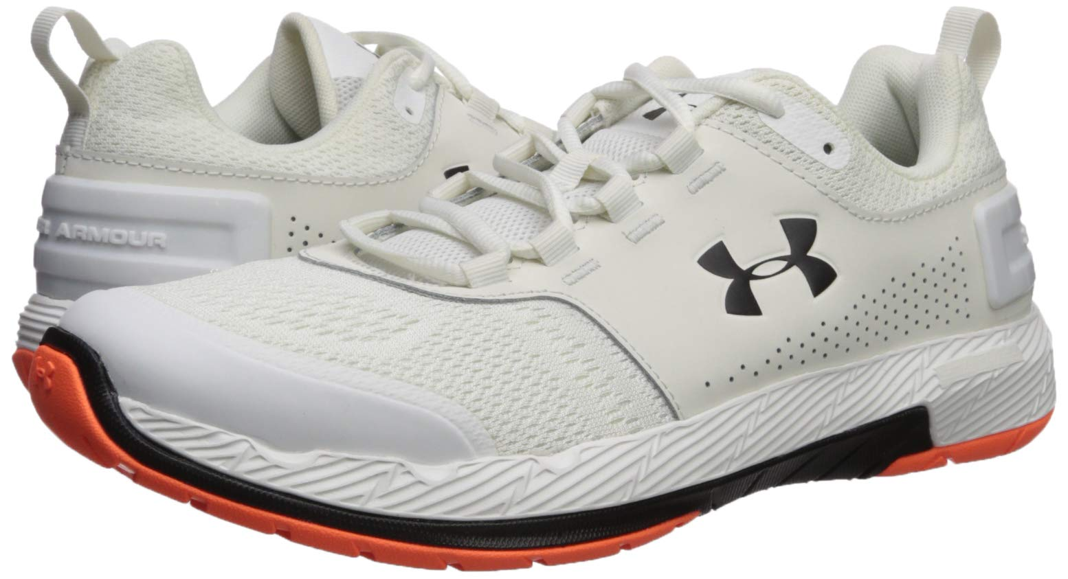 Under Armour Men's Commit TR EX Sneaker, Onyx White (108)/Black, 7 M US by Under Armour (Image #5)