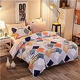 Bedding Duvet Cover Sets Cotton Home Collection Decor For Adult Children Kids Boys Girls Teen Dorm 4Pcs Quilt Cover×1,Flat Sheet×1,Pillowcases×2 Wedding Thanksgiving Christmas Birthday Gift,Twin 150×200Cm