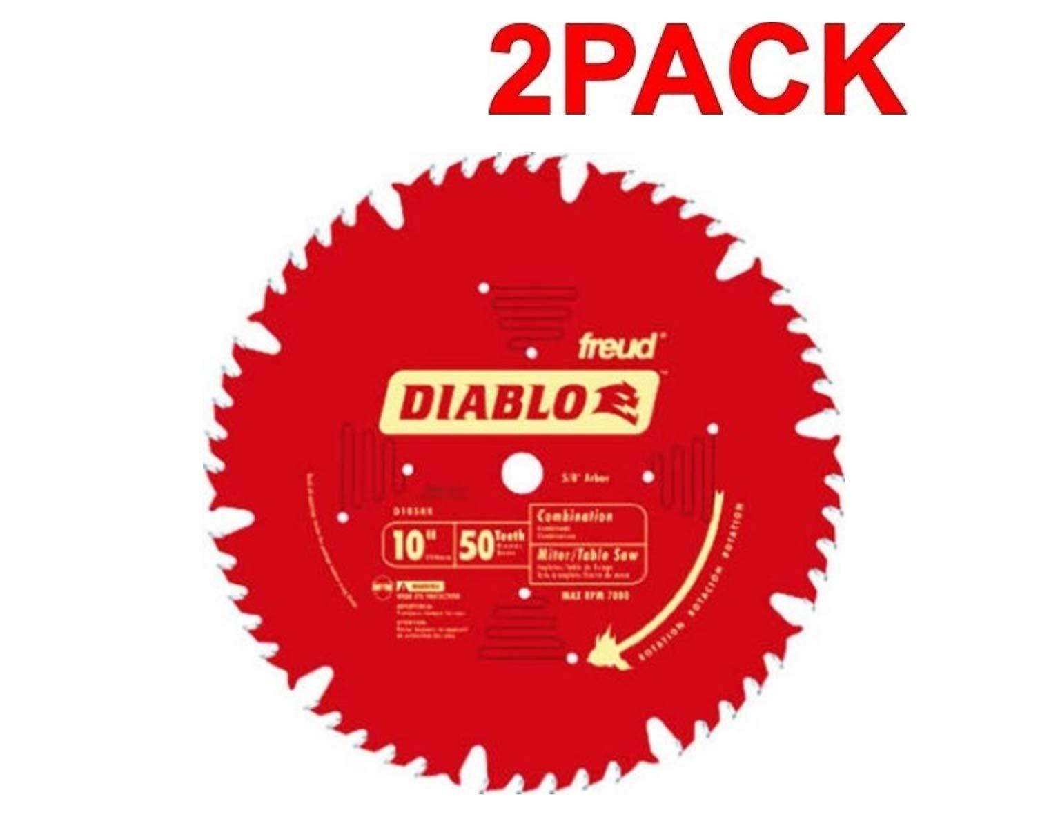 2 Hojas de Sierra DIABLO Combinación D1050X 10 x 50T ATB con