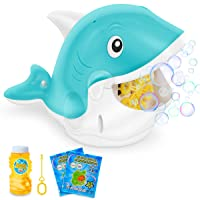 Bubble Machine for Kids Toddlers, Automatic Bubble Blower with Bubble Solution for...