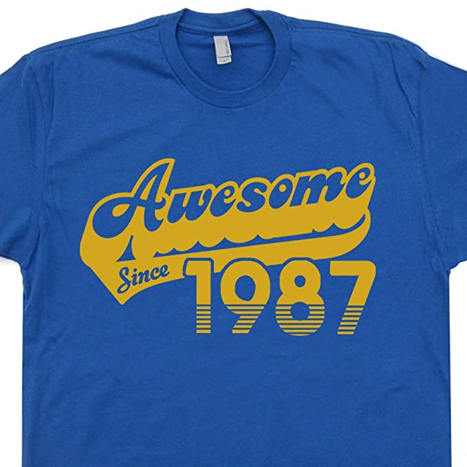 Amazon Awesome Since 1987 T Shirt Cool 31st Birthday Gift For