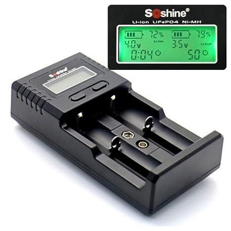 Amazon.com: Soshine H2 - Cargador de batería universal para ...