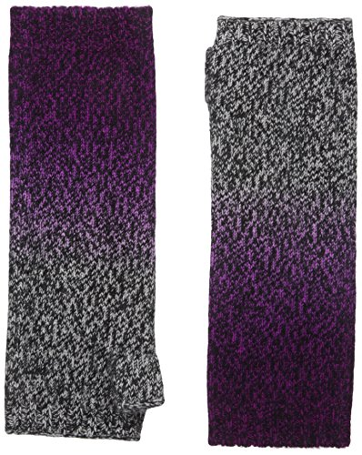 Sofia Cashmere Women's 100 Percent Cashmere Dip Dye Marl Fingerless Long Gloves, Black/Pink Combo, (Cashmere Long Glove)