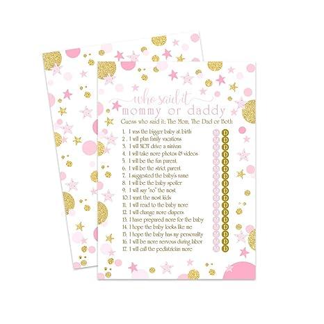 Amazon.com: Juego de 25 tarjetas de felicitación para baby ...