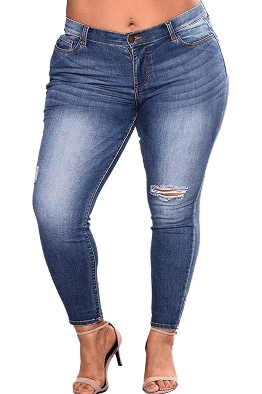 Yacun Les Jeans Skinny Jeans Taille Haute Les Femmes Ont Plus De Taille   Amazon.fr  Vêtements et accessoires 0609fec70092
