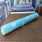 HOMEE Cylindrical Long Big Sleeping Pillow Clamp Around the Pure Cotton Heads Back Pad Can Be Removed from the Sofa Beds in the United States Money-Seamless ,100Cm, Eggs (Pink),Blue stars,180cm