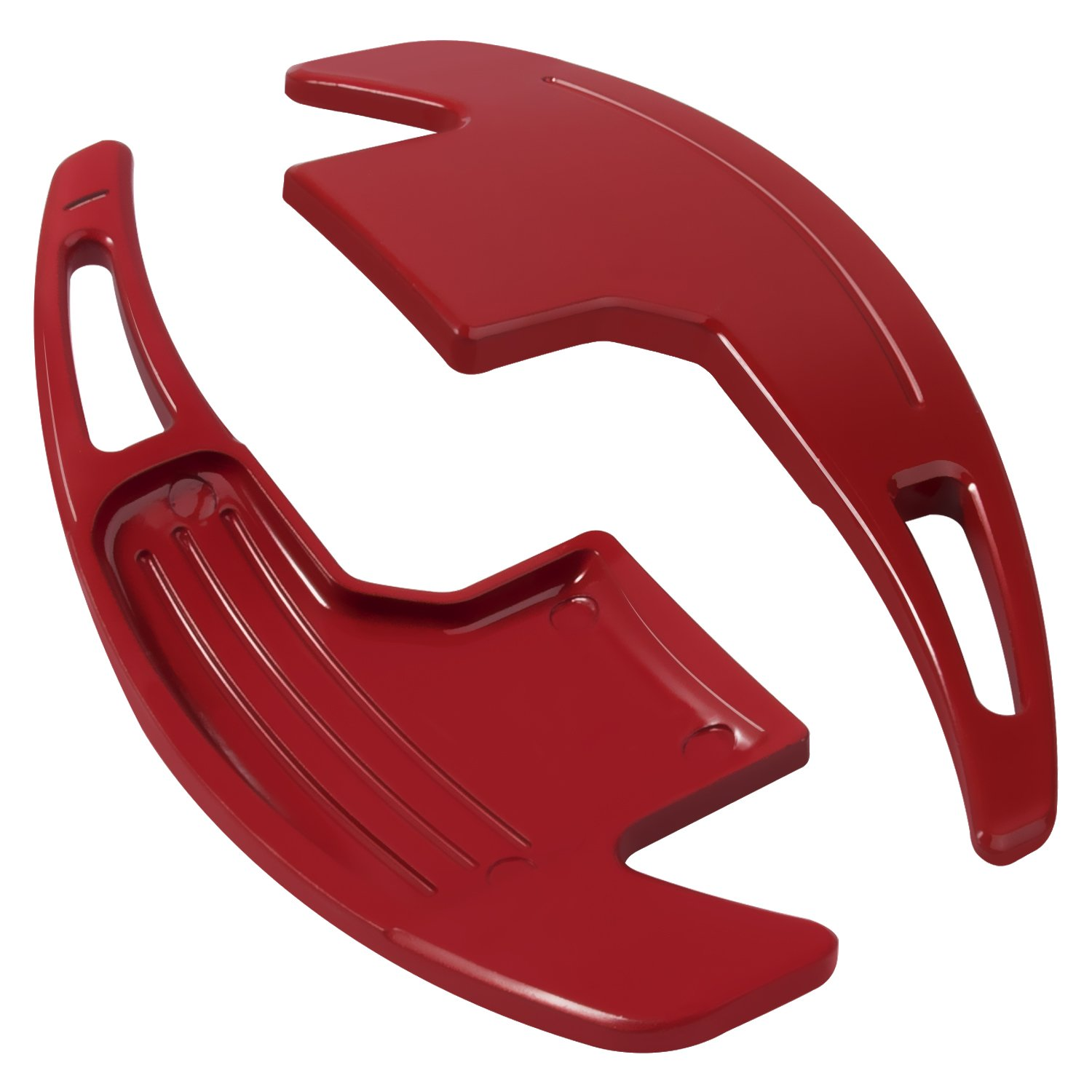 Red Danti 2Pcs Aluminum Steering Wheel Dull Polish Shift Paddle Shifter Extension for Ford Mustang 2015 2016 2017 2018