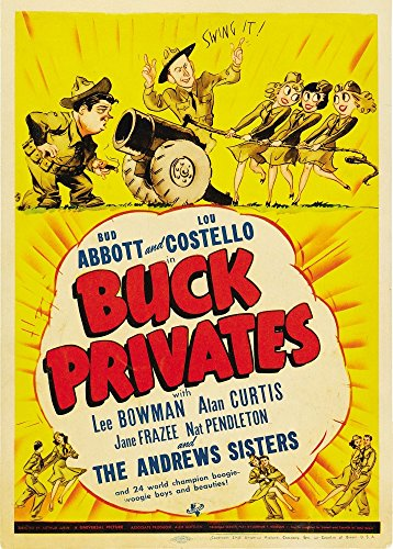 Posterazzi Buck Privates Top from Left: Lou Costello Bud Abbott On Midget Window Card 1941. Movie Masterprint Poster Print (11 x 17)