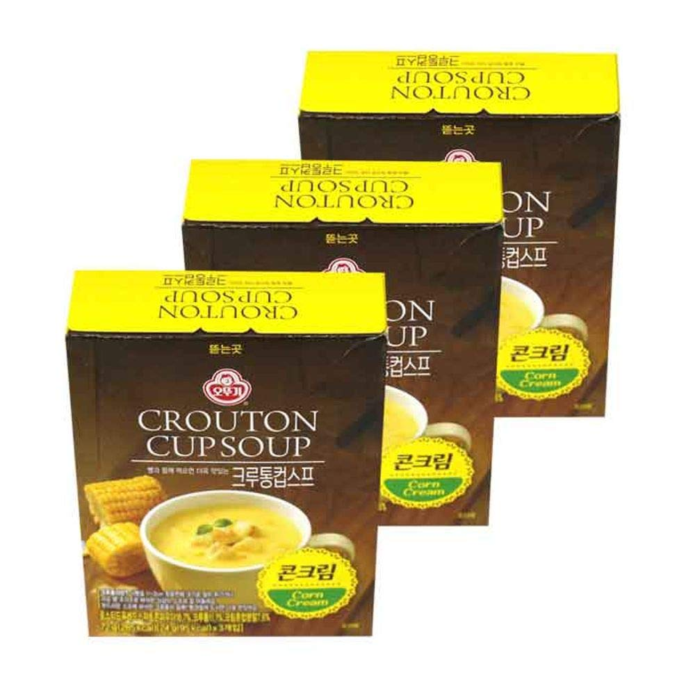 Ottogi Crouton Cup Soup Corn Cream 72g x 3